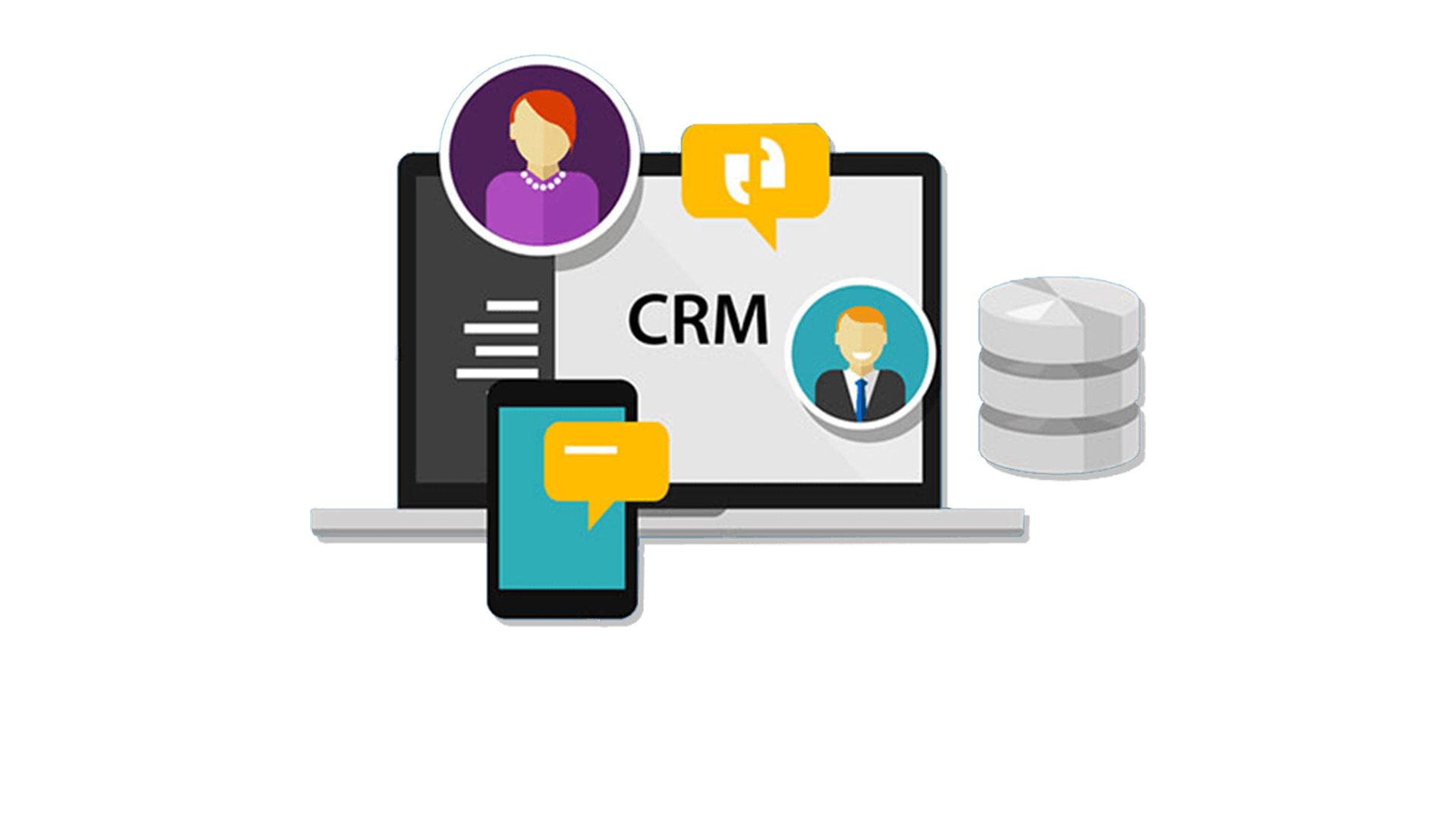 Combined crm and project management